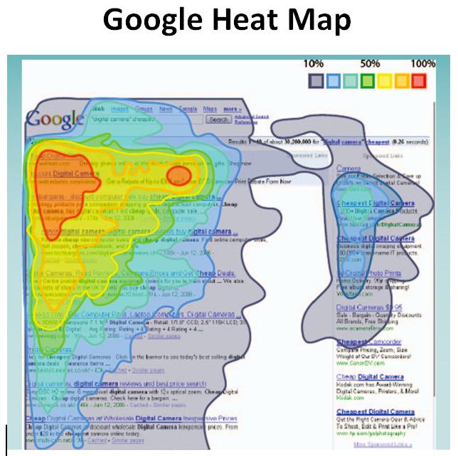 Heat mapa Google